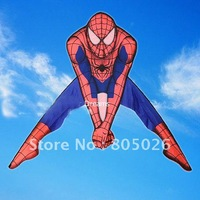 Free shipping  Spider-man kites10pcs/lothot sell kite factory  high quality  with kite reel and line  so beautiful flying higher