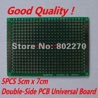 5PCS 5cm x 7cm Double-Side Prototype PCB Universal Board in DIY circuit design