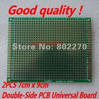 2PCS 7cm x 9cm Double-Side Prototype PCB Universal Board in DIY circuit design