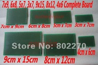 1PCS 9x15, 8x12, 7x9, 6x8, 5x7, 4x6, 3x7 Double-Side Prototype PCB Universal Board in DIY circuit design