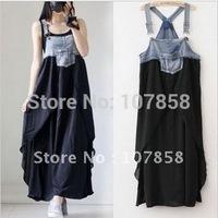 2014 Summer Denim stitching Women dress Maternity dress Pregnant women dress #YZ092