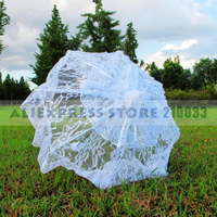 Lace Parasol Sun Umbrella with Long Fringe in Black,White,Ivory for Wedding Decoration Free Shipping
