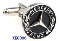 Free shipping! BENZ Car Sign Shape cufflinks,men's hot sell cufflinks   XK0006