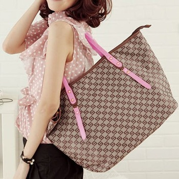 Free Shipping 1pcs/Lot Nylon Jacquard Monogram Tote Bags handbag Fashion BG114