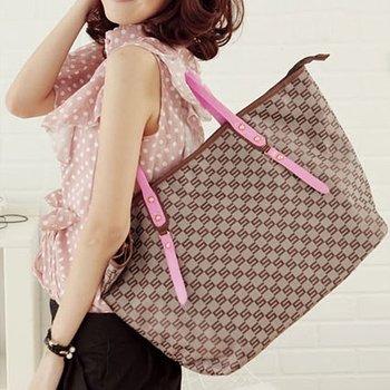 Free Shipping 1pcs/Lot Nylon Jacquard Monogram Tote Bags handbag Fashion BG114