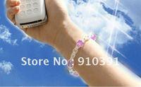 Free Ship,UV detector summer bracelet,extendable acryl bracelace,changeable color fashion crystal bracelet personal decorations