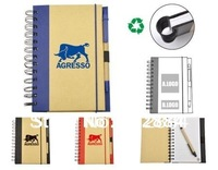 ECO-friendly Recycled Notebook with 70 sheets lined paper and eco-friendly pen