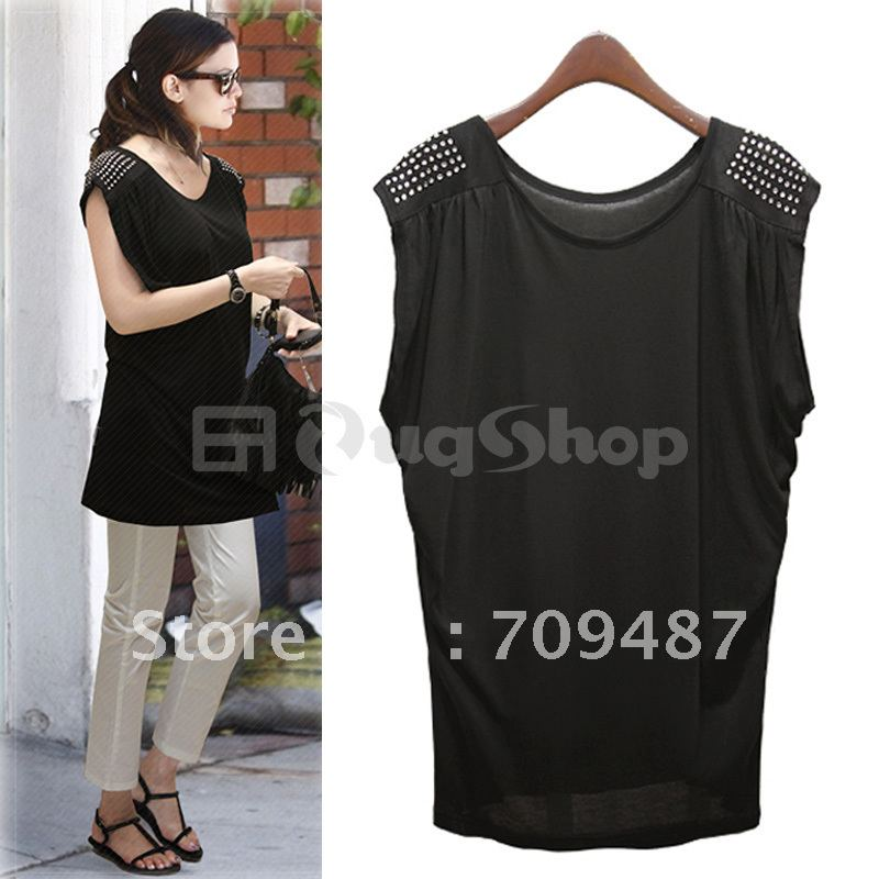 2012 summer fashion casual loose plus size clothing rhinestones long design sweater clothing t skirt(China (Mainland))