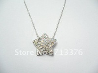 Star-shape Shiny Necklace, Available in Various Chains, OEM/ODM Orders Welcomed