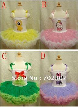 new design baby ballet dress kids dancing wear tutu skirt  5pcs/lot JL-986
