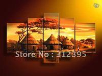 Handicrafts canvas painting Local Cottage Landscape Oil Painting
