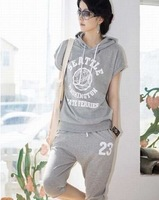 Wholesale - NEW Free Shipping Women&amp;#39;s Clothing Fashion Sports patterns Hooded sweatshirts suit YYS1564