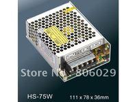 Free Shipping 75W 5V/12V/15V/24V Compact Single Output Switch Power Supply