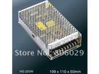 Free Shipping 250W 12V/15V/24V/27V/48V Compact Single Output PC Power Supply