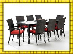 resin rattan dining room furniture SCTC-033(China (Mainland))