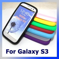 For Galaxy S3 Silicone Case, Phone Skin Cover for Samsung Galaxy S3 S III 3 I9300,200pcs/lot