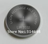 10 pcs/lot rechargeable LIR2032 3.6V Li-ion coin battery button battery cell battery