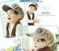 The new wholesale Cool glasses baby Military hat,children cap / baseball cap visor / pilot cap