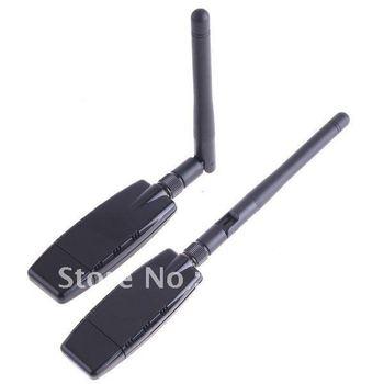 Free Shipping New 1Pcs Black 300Mbps Single King USB WiFi Adapter Wifysky Decoder Lan Network Card IEEE 802.11b/g/n Antenna
