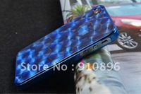 0.5mm 3D gemstone Ultra Slim case for phone 4 4s , 2 pcs / lot ,Retail / Wholesale + Free Shipping