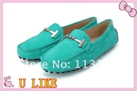 free shippment  women shoes  Flats fashine and leisure leather shoes  for women