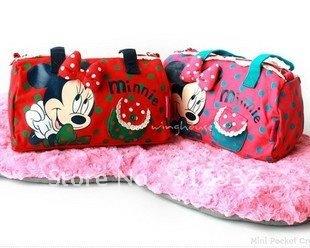 I4 Cute Minnie printed girls Handbag Bag, 2 colors for choosing, free shipping
