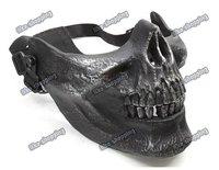 Cacique M03 Skull Half  Mask Silver black