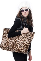 Lint  leopard print shoping bag single shouder women travel bag  Free shipping