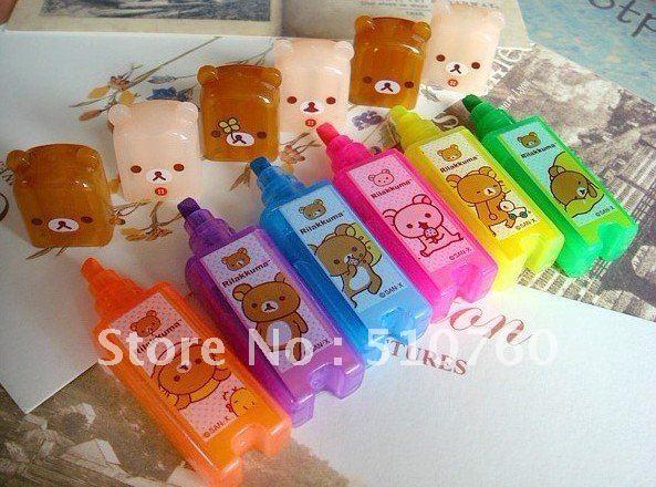 Relax bear fluorescent pen set mark pen(China (Mainland))