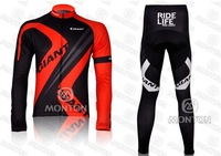Free shipping! 2012 New Cycling Jersey Long sleeves Jersey+pants GIANT team