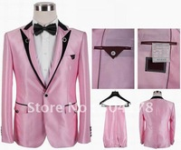 Pink Men's Brand Business Suits Wedding Tuxedo Groom Wear Men's Suits Casual Western Style Suit One Button Suits Hot Selling