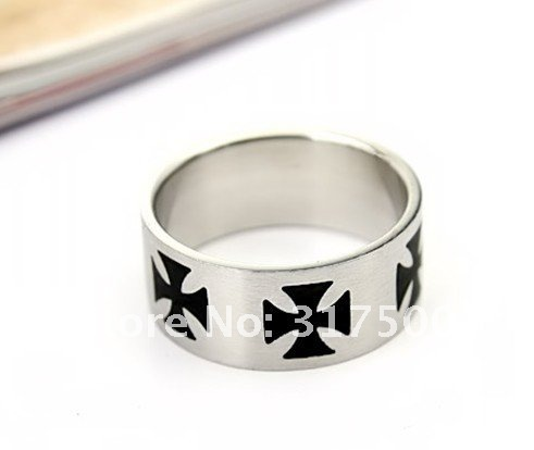 Cool punk cross titanium steel ring(China (Mainland))