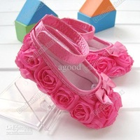 glady  30Pair/Lot Baby First Walker Shoes Flower Hot Sale Pink Mary Jane toddler Size 2 3 4#3424