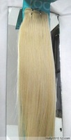 "Retail Virgin Brazilian Factory Outlet Price AAA+ 18-26"" Remy Human Hair Extensions Weft #613 Beach Blonde"