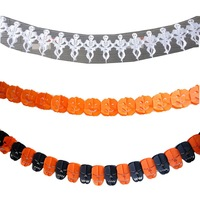 Halloween supplies decoration props skull garland pumpkin garland free air mail