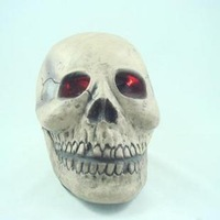 Halloween supplies halloween props tricky toy luminous big skull 240 free air mail