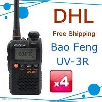 Mini pocket walkie talkie BAOFENG UV-3R II dual band dual display dual standby free shipping
