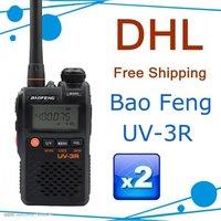 Free shipping+one year warranty UV-3R dual-band 2 way radio with 99CH+FM radio function