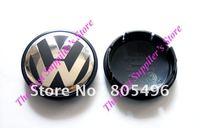 5pcs Top Quality VOLKSWAGEN VW 3D Super Chrome Badge Wheel Center Cap GOLF POLO 55MM