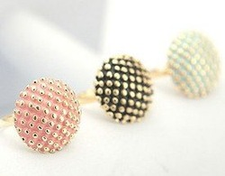 Hot Sale, new arrival, F1089 Blue Pink black Mushroom Polka Dot Girl Ring South Korea Bohemian Vintage Woman Rings Free Ship(China (Mainland))