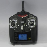 Free Shipping RC UFO 4CH 2.4GHz Mini Radio single blade RC Helicopter Gyro WL V929  transmitter radio control LCD