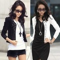 Fashion plus size slim rivet long-sleeve short jacket cardigan women&#39;s spring anutumn outwear short coat WC1010