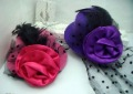 10Pcs/lot Free Shipping Mini TOP HAT FASCINATOR FANCY DRESS VICTORIAN BURLESQUE,Women Feather Hair Clip Decoration Cocktail