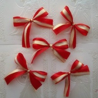 Free shipping 7cm 20pcs  colours for choose silk ribbon bow for Christmas home  Wedding car decoration