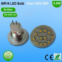 Free shipping 20pcs* mr16 /GU5.3 led spot light with small size with 12pcs 3528 SMD high brightness for cabient light