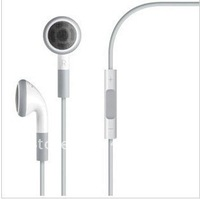 In Ear 3.5 mm Earphone Headphone Headset with Volume Control and Mic for iPhone 3G 3GS iPod etc New Arrival Freeshipping 200 pcs