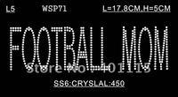WSP71  Sports,dance & games  designs rhinestone transfer(crystal of FOOTBALL MOM)