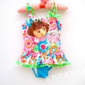 Child female child baby infant dora flower one-piece swimsuit