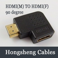 Free shipping HDMI LEFT/RIGHT Angle Port Saver Adapter Male to Female