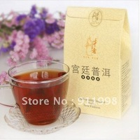 Nonpareil Organic Ripe Pu'er tea Janpan Brand Gong Ting Pu'er tea 50g in Nice Gift Bag Good for Office Tea Free Ship